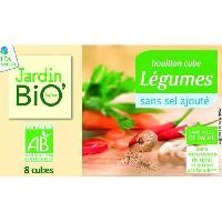 Bouillon - Gelee - Fond Bouillon cube Legumes - Sans sel sans gluten sans lactose - Biologique - 8 x 9 g - 72 g