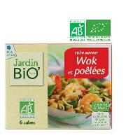Bouillon - Gelee - Fond JARDIN BIO Cube saveur Thai wok et soupe bio - 66 g