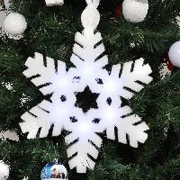 Boule De Noel Flocon neige 6 leds - Generique