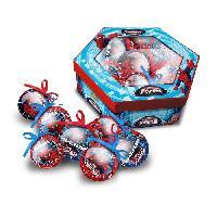 Boule De Noel SPIDERMAN Lot de 7 boules de noël 7.5 cm rouge et bleu - Marvel