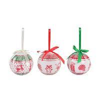 Boule De Noel Set de 14 boules de Noël PVC - Neige brillant et multicolore - Generique