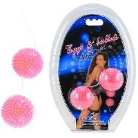 Boules de Geisha Boules de Geisha a Picots roses D3.6cm