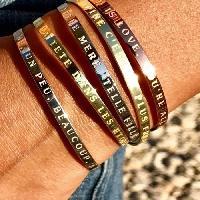 Bracelet - Gourmette BAM - Bracelet Ensemble jusqu'au bout du monde Femme