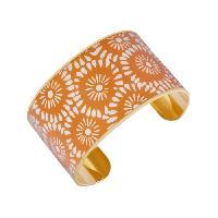 Bracelet - Gourmette LUYIA Bracelet Femme LS18001 orange sur fond blanc en laiton