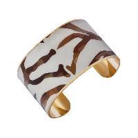 Bracelet - Gourmette LUYIA Bracelet Femme LS18022 beige et marron en laiton - Aucune
