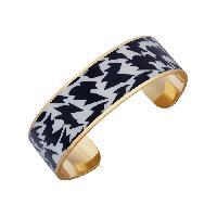 Bracelet - Gourmette LUYIA Bracelet Femme LS18063 noir et blanc en laiton
