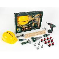 Bricolage - Etabli - Outil BOSCH - Set Bricoleur Bosch avec Visseuse et Casque pour Enfant - Klein