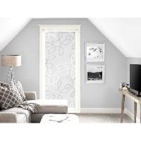 Brise-bise  - Voile De Vitrage Brise bise Manon - 70x200 cm - Blanc et gris