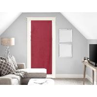 Brise-bise  - Voile De Vitrage Brise bise Panama - 70x200 cm - Rouge