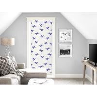 Brise-bise  - Voile De Vitrage SOLEIL D'OCRE Brise bise Colibri - 70x200 cm - Bleu