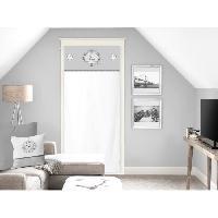 Brise-bise  - Voile De Vitrage SOLEIL D'OCRE Brise bise Esprit Famille 100 Coton 70x200 cm - Blanc