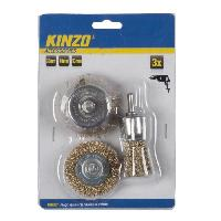 Brosse Abrasive A Main - Brosse Metallique KINZO Brosse métallique - 3 pieces 30 / 48 / 53 mm