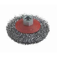 Brosse Circulaire - Brosse Pinceau Sur Tige Brosse conique a fils d'acier - D 100 mm