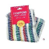 Brosses & Chiffons 2 Chiffons multi usages - 32x32 cm - ADNAuto