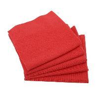 Brosses & Chiffons 5 Microfibres rouges sans couture - PhoenixAuto