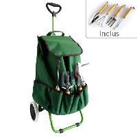 Brouette - Accessoire Brouette Chariot de jardin MUNDUS + 4 outils - griffe. fourche a main. transplantoir et desherbeur a main