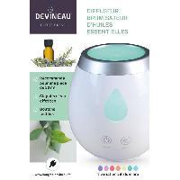 Bruleur - Diffuseur De Parfum DEVINEAU Diffuseur brumisateur d'huiles essentielles - Blanc