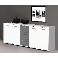 Buffet - Bahut - Enfilade Buffet PILVI 180cm blanc et gris