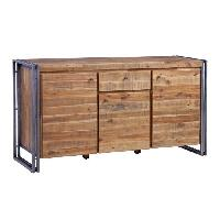 Buffet - Bahut - Enfilade Buffet industriel en métal et MDF plaqué bois pin acacia -  L 150 cm - Generique