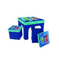 Bureau Bebe - Enfant PJ MASKS Table + 2 Tabourets