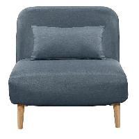Bz - Banquette Bz BEDZ Banquette BZ 1 place - Tissu bleu acier - Style scandinave - L 85 x P 90 cm