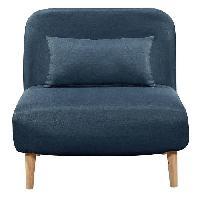 Bz - Banquette Bz BEDZ Banquette BZ 1 place - Tissu bleu petrole - Style scandinave - L 85 x P 90 cm
