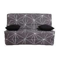 Bz - Banquette Bz LIOM Banquette BZ 2 places - Tissu motif Saka - Style contemporain - L 142 x P 96 cm