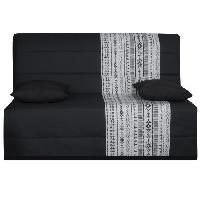 Bz - Banquette Bz LIOM Banquette BZ 3 places - Tissu motif estampe - Style ethnique - L 142 x P 96 cm