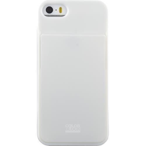 COLORBLOCK-Coque-porte-carte-Iphone-5-5S-Blanc-Bigben-Connected