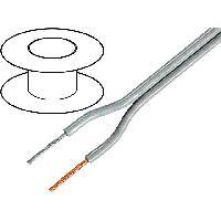 Cablage 100m de Cable de haut parleurs 2x0.5mm2 - OFC - Gris - PVC