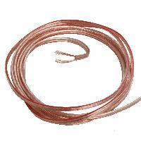 Cablage 10m cable de haut parleurs - 2x1.0mm2 - CCA - transparent ADNAuto
