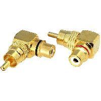 Cablage 2x Adaptateurs RCA Male Femelle dores coudes
