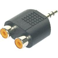 Cablage 2x Fiches 2x RCA femelles vers Jack 3.5 male - Stereo - ADNAuto
