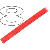 Cablage 50m gaine polyester tresse 1117 12mm rouge