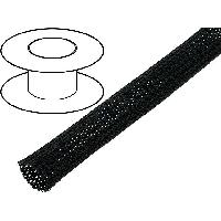 Cablage 5m gaine polyester tresse 1320 15mm noir