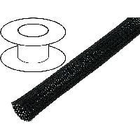 Cablage 5m gaine polyester tressee 3550 40mm noir ADNAuto