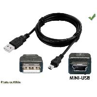 Cable - Connectique Pour Peripherique CABLE USB MALE A MINI USB MALE - ADNAuto