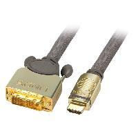 Cable - Connectique Pour Peripherique LINDY Câble DVI-D / HDMI GOLD - 1m