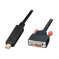 Cable - Connectique Pour Peripherique LINDY Câble adaptateur mini DisplayPort vers DVI-D - 5m