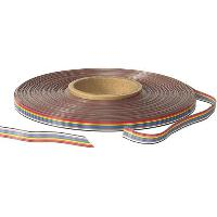 Cable - Fil - Gaine 30m cable ruban - 16x28AWG - 1.27mm - 300V Generique