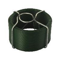 Cable - Fil - Gaine Fil de fer Bobino devidoir en acier plastifie - 50 m D 1 mm - Vert