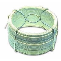 Cable - Fil - Gaine Fil en acier plastifie - L 30 m - Exterieur D 1.4 mm - Blanc
