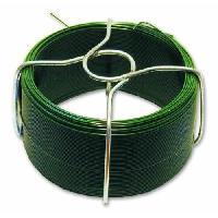 Cable - Fil - Gaine Fil en acier plastifie - L 30 m - Exterieur O 1.4 mm - Vert - Generique