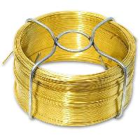 Cable - Fil - Gaine Fil metallique laiton - L 50 m x O 0.8 mm