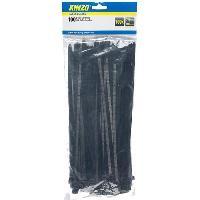 Cable - Fil - Gaine KINZO Attache cable - 100 pieces - 7.5x300 mm - Noir