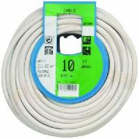 Cable - Fil - Gaine PROFIPLAST Couronne de cable 10 m HO5VVF 2 x 1 mm2 Blanc Generique