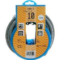 Cable - Fil - Gaine PROFIPLAST Couronne de cable 10 m HO5VVF 3G 1.5 mm2 Gris Generique