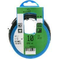 Cable - Fil - Gaine PROFIPLAST Couronne de cable 10 m HO7V-U 1.5 mm2 Noir - Generique
