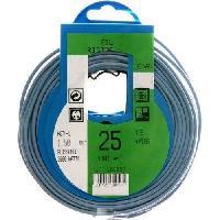Cable - Fil - Gaine PROFIPLAST Couronne de cable 25 m HO7V-U 1.5 mm2 Bleu - Generique