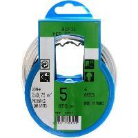Cable - Fil - Gaine PROFIPLAST Couronne de cable 5 m HO3VHH 2 x 0.75 mm2 Blanc